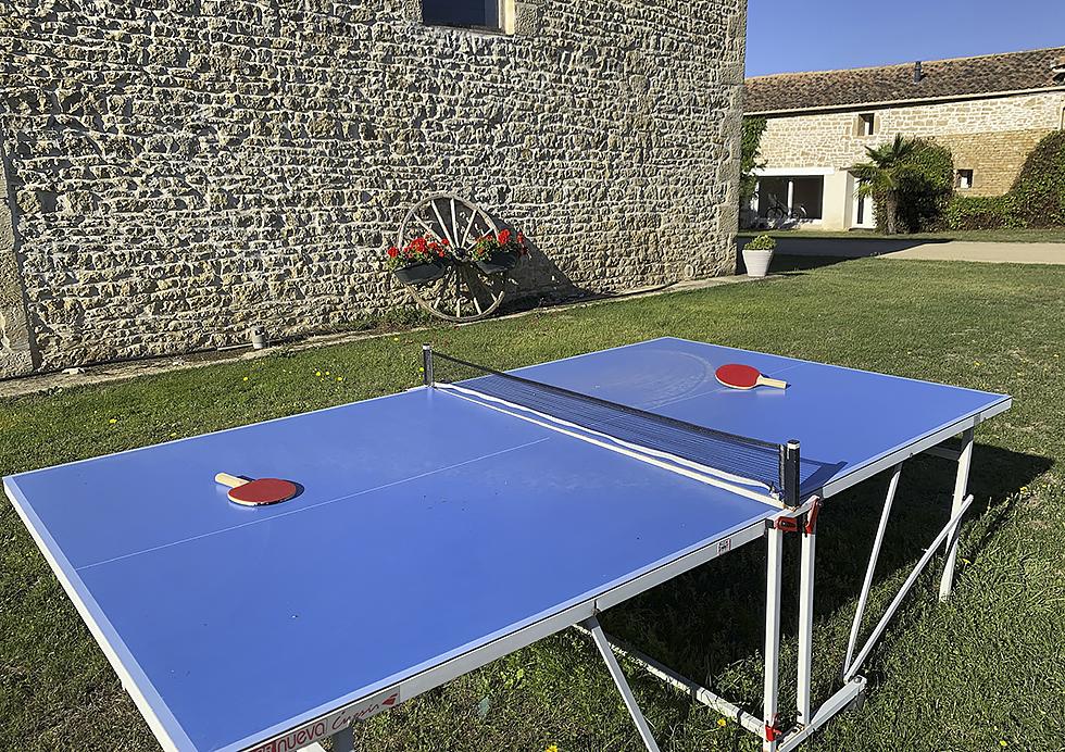Tennis de table - Gîte et Chambres d'hôtes Tourisme Deux-Sèvres Marais Poitevin